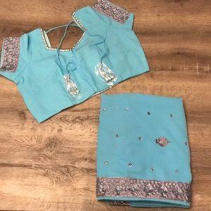 Brand New Sari (Saree) with Ready Made Blouse!!